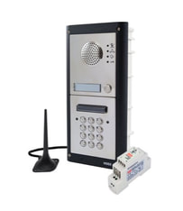 GSM gate automation system to dial mobile phone or use pin entry code